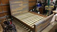 Barn wood/pallet wood bed