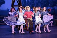 Nephew Kevin, hangin' with the girls in the production of Oklahoma