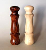 peppermills, cocobolo and dogwood