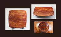 cedar, small squarish dished platter