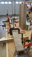 palletBed - glueup of a post using table locking miters