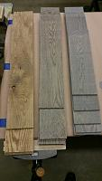 stained veneers, 4-inches wide in varying lengths