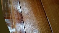 VarnishCracking2 - Epifanes Clear Gloss Spar varnish thinned 25% with mineral spirits began to crack after initial application over the seal coat of...